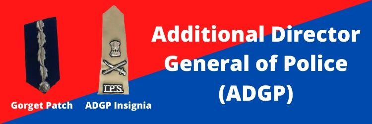 Additional Director General of Police (ADGP) Rank Insignia & Gorget Patch