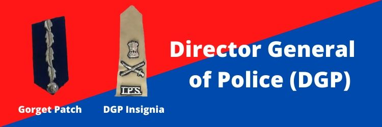 Director General of Police (DGP) Insignia & Gorget Patch